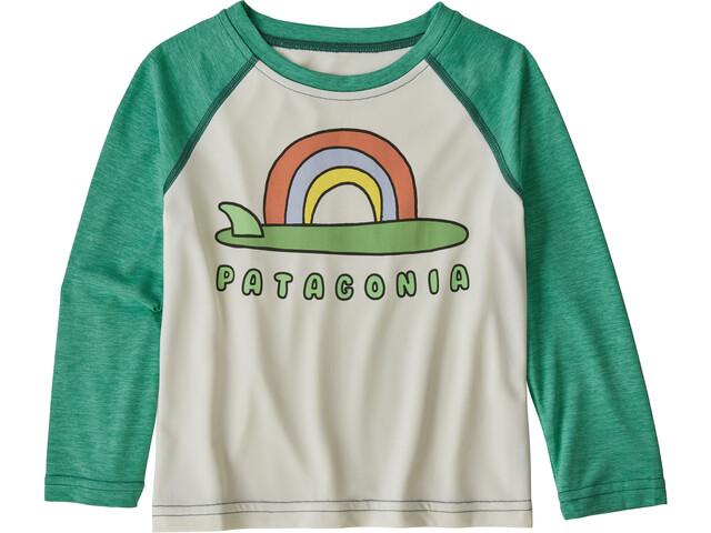 Patagonia Capilene Cool Daily Pitkähihainen T-paita Lapset, single fin/birch white